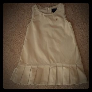 VGUC Ralph Lauren khaki uniform dress 12mth